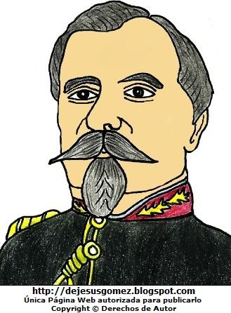 Imagen de Francisco Bolognesi a color. Dibujo de Francisco Bolognesi hecho por Jesus Gómez