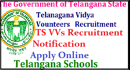 Telangana Vidya Volunteers Recruitment Apply Online @cdse.telangana.gov.in Online Application form Started at School Education Dept Telangana State Official website | Online Applications are invited from Eligible and intended candidates for Vidya Volunteers Recruitment Notification 2017 to work in Telangana Govt Schools for the 2017-18 Academic Year | Schedule for Online Applications for 11428 Vidya Volunteer Posts in Telangana telangana-vidya-volunteers-recruitment-apply-online-cdse-telangana-official-website