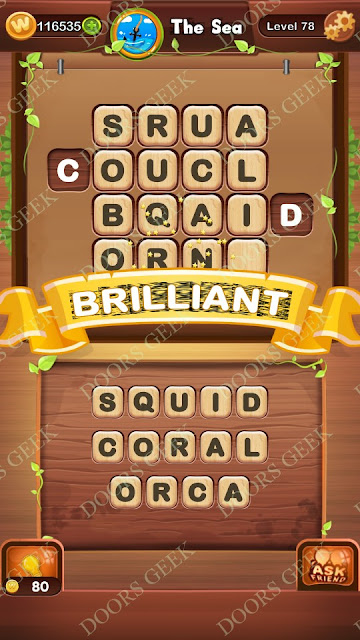 Word Bright Level 78 Answers, Cheats, Solutions, Walkthrough for android, iphone, ipad and ipod