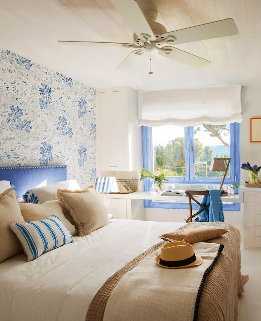 dormitor in stil mediteranean