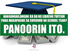 Do you need money for your tuition fee to be able to study this coming school year? The Philippine government might be able to help you. All you need to do is to follow these steps:  -Inquire at the state college or university where you want to study.  -Bring Identification forms. If your family is a 4Ps subsidiary, prepare and bring your 4Ps identification card. For families who are not a member of 4Ps, bring your family's proof of income.  -Bring the registration form from your state college or university where you want to study.   Nicholas Tenazas, Deputy executive Director of CHED-UniFAST said that in the program, the state colleges and universities will not collect any tuition fee from the students. The Government will shoulder their tuition fees.  CHED-UniFAST or the Unified Student Financial Assistance For Tertiary Education otherwise known as the Republic Act 10687  which aims to provide quality education to the Filipinos.  What are the qualifications for availing of the modalities of UniFAST?  The applicant for any of the modalities under the UniFAST must meet the following minimum qualifications:  (a) must be a Filipino citizen, but the Board may grant exemptions to foreign students based on reciprocal programs that provide similar benefits to Filipino students, such as student exchange programs, international reciprocal Scholarships, and other mutually beneficial programs;   (b) must be a high school graduate or its equivalent from duly authorized institutions;   (c) must possess good moral character with no criminal record, but this requirement shall be waived for programs which target children in conflict with the law and those who are undergoing or have undergone rehabilitation;   (d) must be admitted to the higher education institution (HEI) or TVI included in the Registry of Programs and Institutions of the applicant's choice, provided that the applicant shall be allowed to begin processing the application within a reasonable time frame set by the Bo