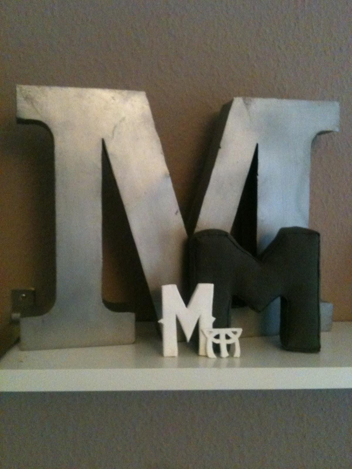 stoffbuchstaben von mri. Black Bedroom Furniture Sets. Home Design Ideas