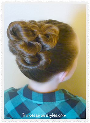 Easy twisted bun tutorial.