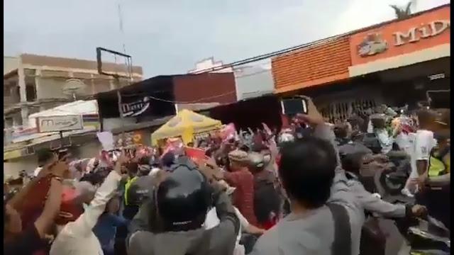 Prabowo Dihadang Pendukung Jokowi di Gresik, FPI Bertindak