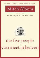 The Five People You Meet in Heaven Book Review Recommendation -Mitch Albom - Book Recommendations for Women Men Young Adults