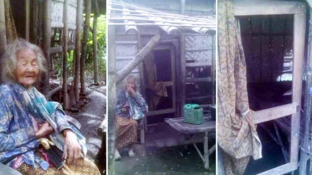 Astagfirullah, Hidup Sangat Miskin, Nenek Ini Gerogoti Bambu Dinding Rumahnya Untuk Memasak
