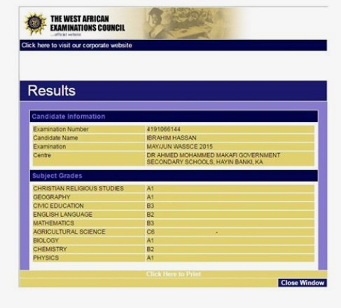 Waec Result Upgrading Official website to Upgrade: Upgrade 2018/2019