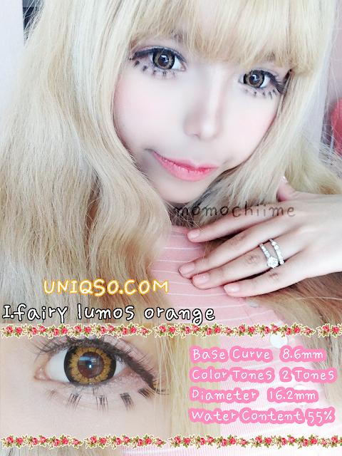Popteen Gyaru Circle Lenses : I.Fairy Lumos Orange