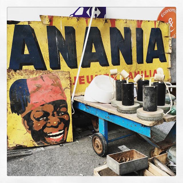 Enseigne Banania /Brocante d'Amiens, avril 2016 / Photos Atelier rue verte /