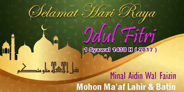Gambar Desain Banner Idul Fitri 2