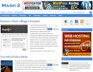 Mash 2 Blogger Template