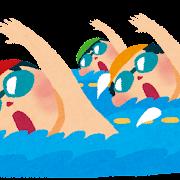 水泳のイラスト「クロール・自由形」