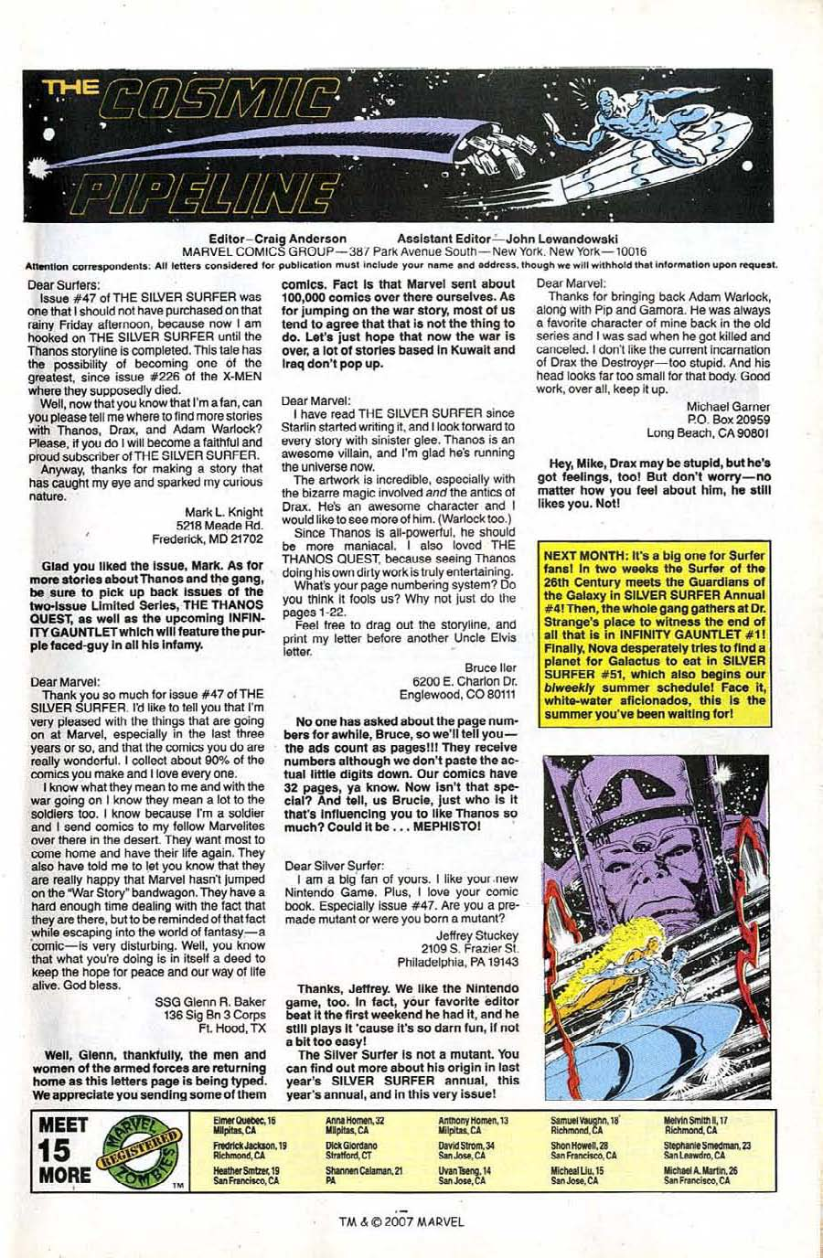 Read online Silver Surfer (1987) comic -  Issue #50 - 49