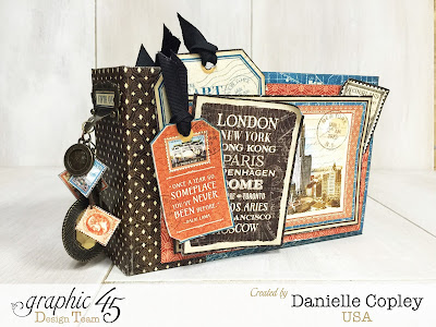 Cityscapes Mini ALbum, Graphic 45, Danielle Copley, Scrapbookmaven.com, photo 1