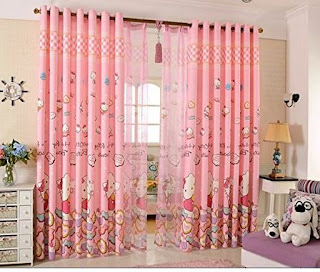 Gambar Gorden Hello Kitty Warna Pink 6