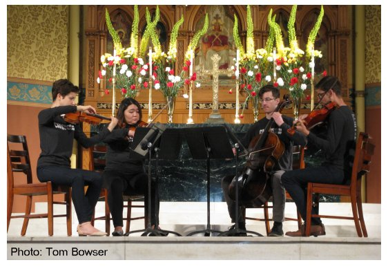 The Civic Orchestra of Chicago String Quartet | St. James Cathedral, Chicago | Make Music Chicago | Photo by Tom Bowser