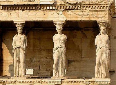 cariatides, acropolis, atenas