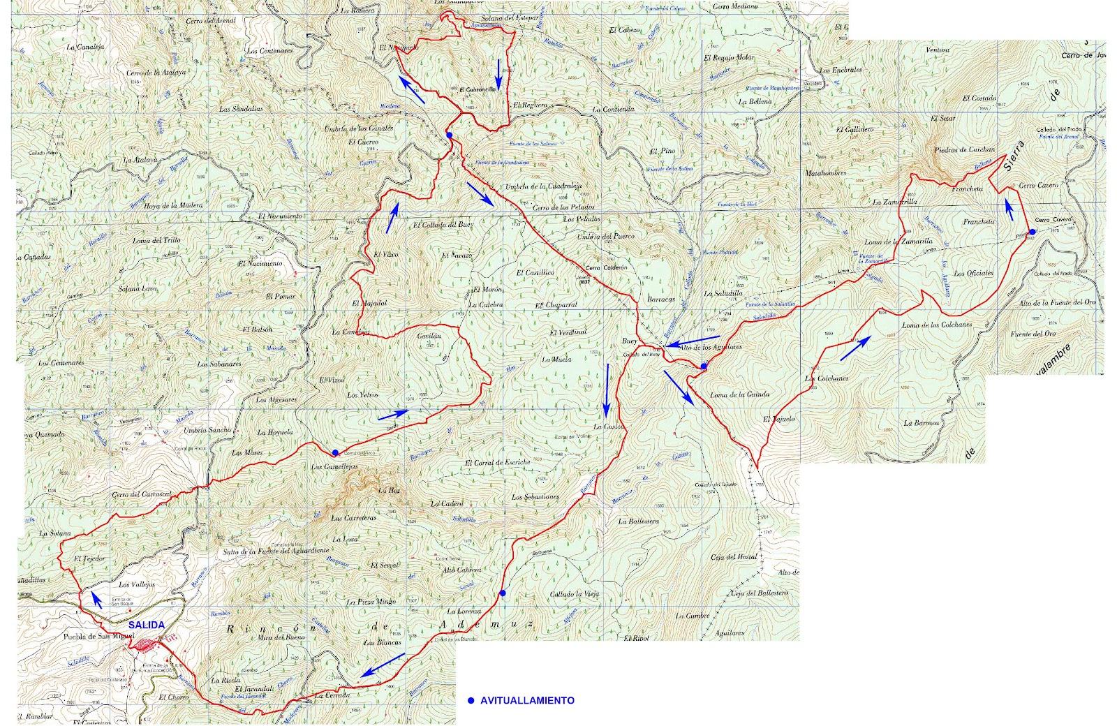 Sierra De Javalambre Mapa.Maraton Javalambre Info Tecnica