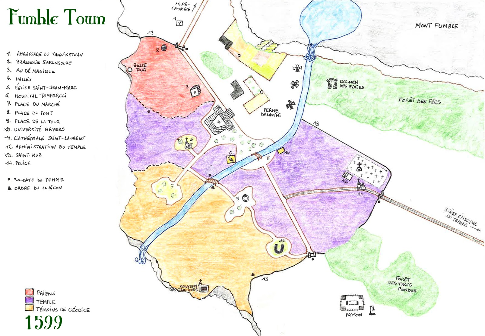 Fumble Town en 1599