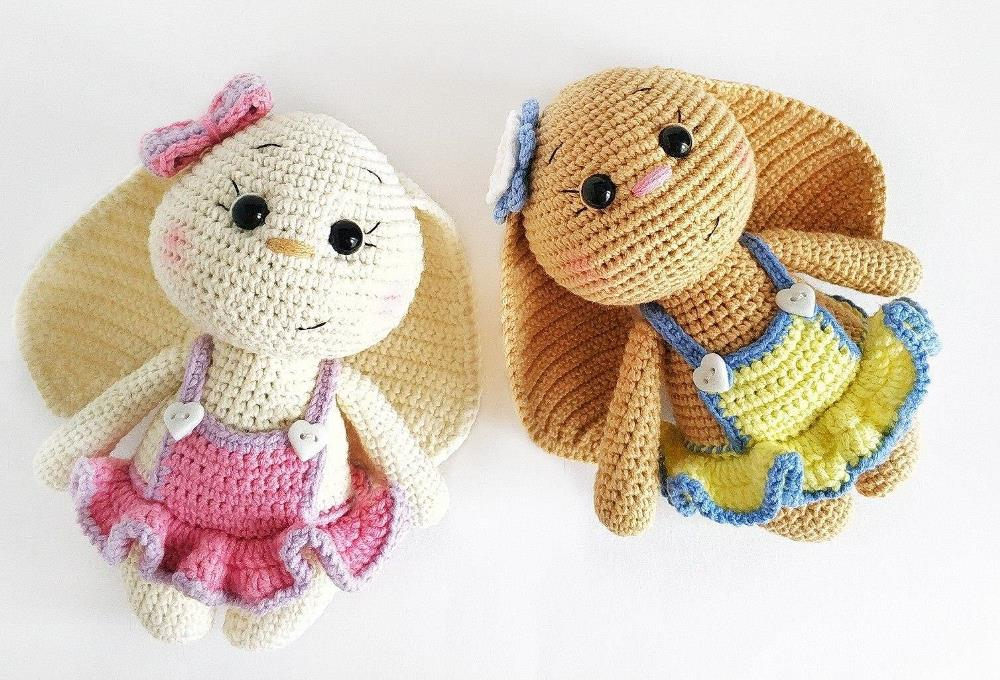 Crochet bunnies amigurumi pattern