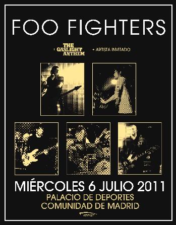Concierto de  Foo Fighters en Madrid. Julio 2011