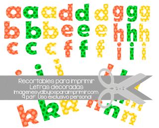 Abecedarios con letras recortables para imprimir