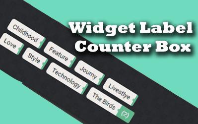 Widget Label Counter Box