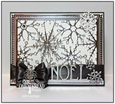 Our Daily Bread Designs Custom Dies: Snowflake Sky, Snow Crystals, Noel Border