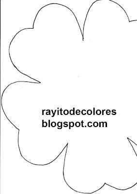 colgador flor moldes