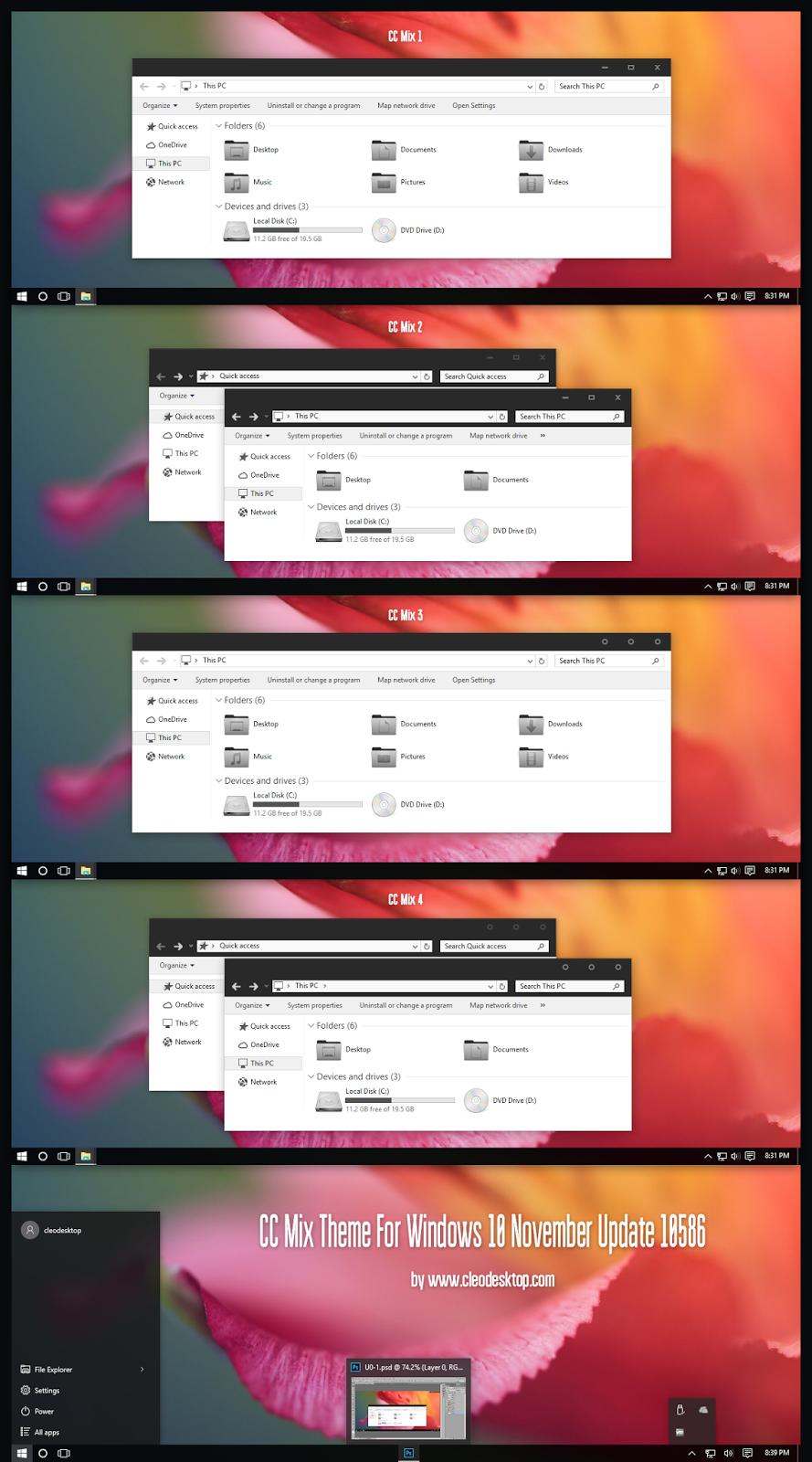 CC Mix Theme For Windows10 November Update (10586)
