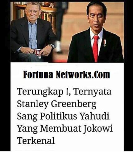 Terungkap!,Ternyata Stanley Greenberg Sang Politikus Yahudi Yang Membuat Jokowi Terkenal