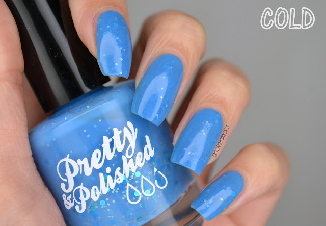 NAILS | Pretty & Polished April Showers Swatch (It's a Thermal Polish!)