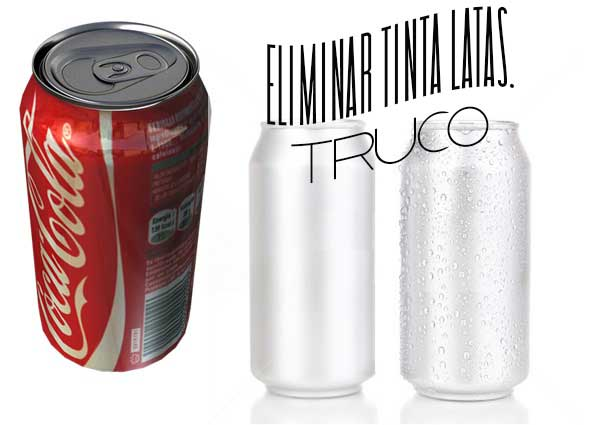 eliminar tinta latas, reciclar, metodo, latas refresco, trucos