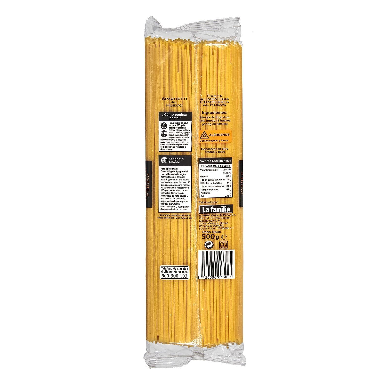 Spaghetti al huevo Hacendado