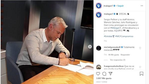 "Míchel González felicita a Pellicer por su renovación: ""Totalmente merecido"""