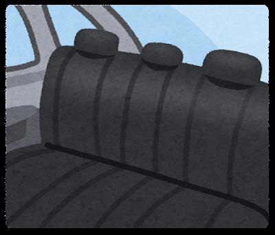 車の後部座席のイラスト