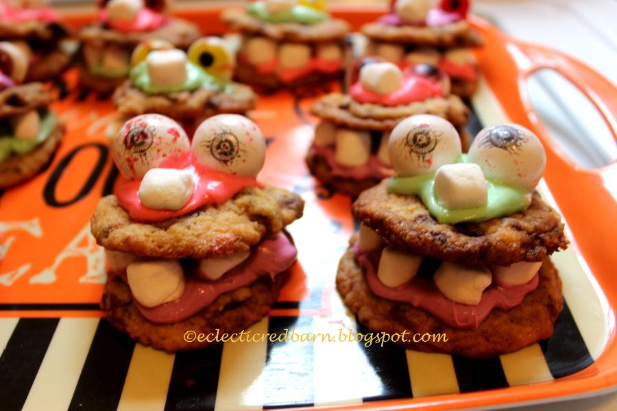 Monster Halloween Cookies: Eclectic Red Barn: Halloween Monster Cookies