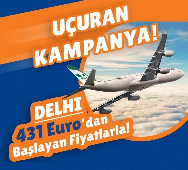 delhi uçak bileti kampanyası