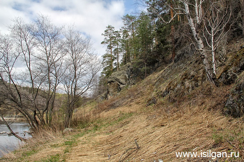 Пионерские скалы. Река Пышма. Свердловская область