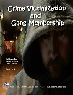 front cover of report entitled Crime Victimization and Gang Membership