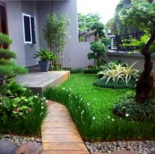 gambar taman depan rumah minimalis lahan sempit