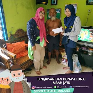 Mbah Ja'in : Bingkisan & Donasi Tunai