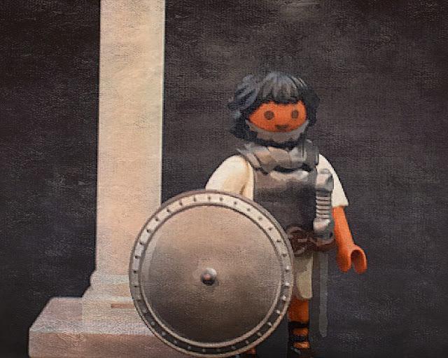PLAYMOBIL CUSTOM HOPLITES & OTHER GREEK CHARACTERS