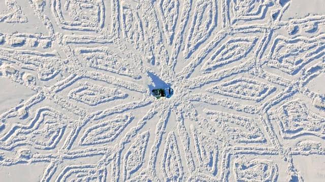 Pintando en la nieve