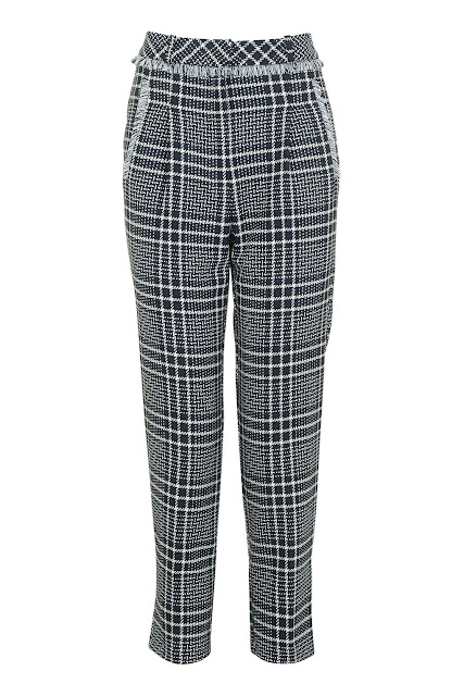 check peg trousers, checked tapered trousers, check ankle trousers,