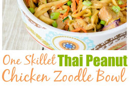 Thai Peanut Chicken Zoodle Bowl Recipe