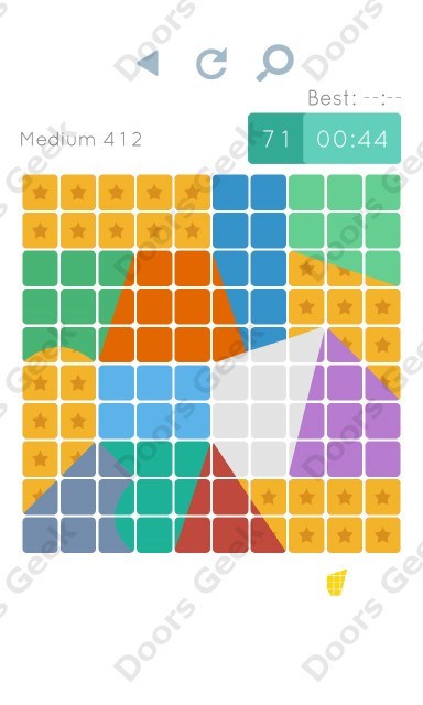Cheats, Walkthrough for Blocks and Shapes Medium Level 412