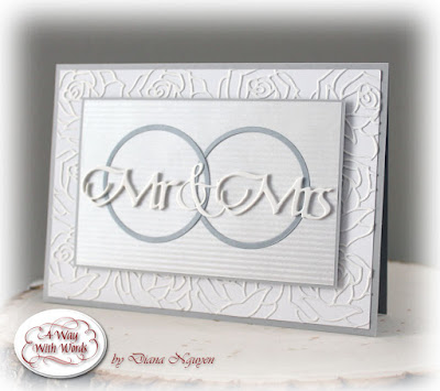 Diana Nguyen, Quietfire Design, Mr and Mrs, wedding, card, elizabeth craft designs