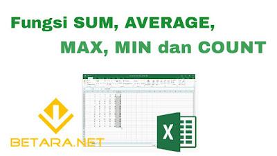 Fungsi SUM, AVERAGE, MAX, MIN dan COUNT Dalam Microsoft Excel | Beserta Panduan Penggunaan