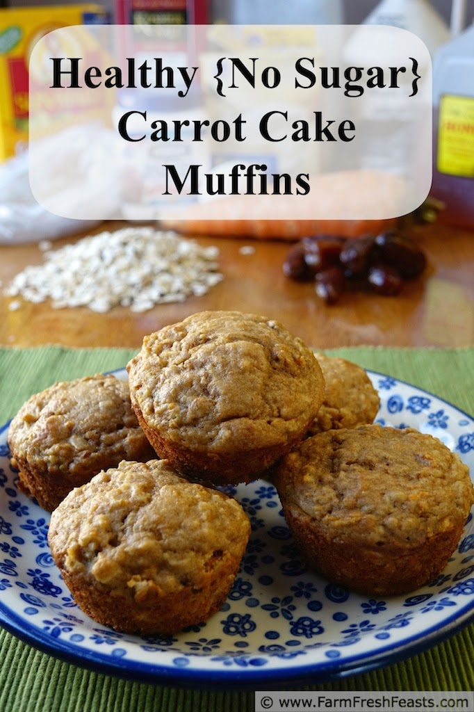 Carrots, raisins, and dates--sweetened with honey and maple syrup--combined with whole wheat flour and rolled oats for a deliciously sweet treat.